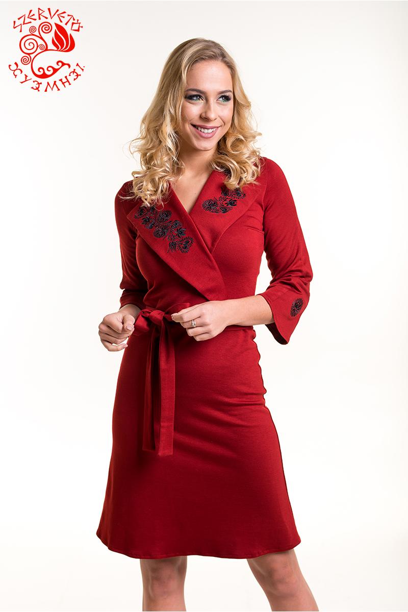 648a64d9f3 Anna ruha Szervető-matyó hímzéssel - piros-fekete | Ruhák | Szervető ...