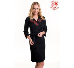 2c8e8f0e11 Anna ruha Szervető-matyó hímzéssel - fekete-színes